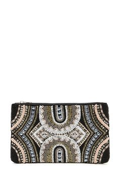 Beaded Faux Leather Clutch | Forever 21 Canada