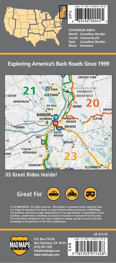 New England 2016 Edition Road Trips Map Of New England Featuring Travel Maps