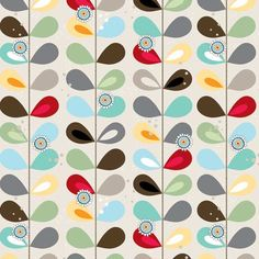 Groove Fabric Mod Dot Multi Color Tall Stem by AllegroFabrics