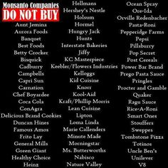 Heres a list of GMO