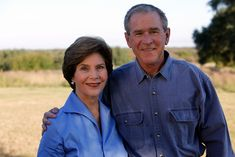 President George W. Bush and Mrs. Laura Bush pose for a photo, October 29, 2009, at Prairie Chapel Ranch in Crawford, Texas. http://www.georgewbushlibrary.smu.edu/The-President-and-Family/Laura-W-Bush.aspx