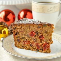 Bourbon Apple Fruitcake - a real old fashioned recipe, simply mixed together in one bowl and baked. The bourbon enhances the flavor of the cake beautifully.