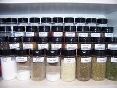 Organize the spice cabinet!