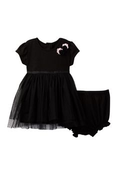 Black Top with Tulle Skirt Dress Set (Baby Girls 12-24M)