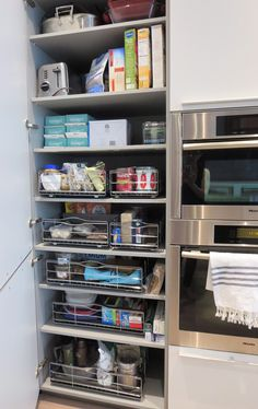 Install Easy Pull Out Drawers These Hen To Be By Simple Human In Deep Pantry Cabinets Make Sure Each Drawer Has A Specific Category Grains