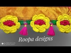 Instant Flowers crochet design/Saree kuchu Designs 🌻🌻🌻(Kannada version) Roopa designs - YouTube Saree Tassels Designs, Saree Kuchu Designs, Crochet Lace Edging, Crochet Flowers, Save Earth Posters, Designer Socks, Crochet Designs, Crochet Necklace, Projects To Try