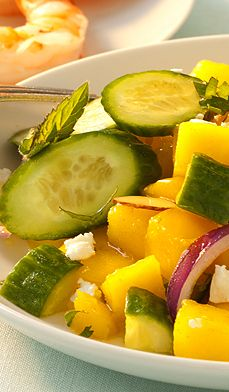 Mango and Cucumber Salad - This light, refreshing dish can be on the table in 15 minutes.