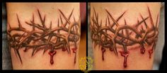Crown of Thorns Armband Tattoo done by Sean Ambrose at Arrows and ...