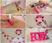 √ 20 Cute DIY Valentine Decorations for Your Home [Images] Valentine Tree, Little Valentine, Valentines Diy, Giant Flowers, Faux Flowers, Cute Letters, Rustic Candle Holders, Paper Wall Art, Hanging Hearts