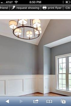 Gray Matters by Sherwin Williams -- Chandelier from Home Depot  My Design
