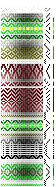Ravelry: janjj's Swedish Rosepath Sample                                                                                                                                                                                 More Weaving Designs, Weaving Patterns, Weaving Projects, Weaving Textiles, Tapestry Weaving, Tapestry Crochet, Swedish Weaving, Loom Weaving, Tablet Weaving