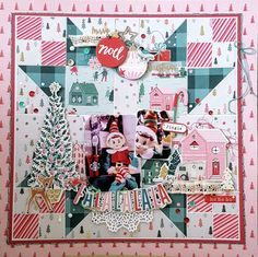 Fa la la by Crate Paper, Christmas Layout by Kelly