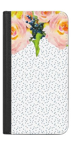 Casetify iPhone 7 Wallet Case - Floral and Dots 3 by Jande Laulu #Casetify