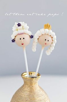 Royal Cake Pops by Isabella Schenz Marie Antoinette cake pops  Princess cake pops French theme cake pops King and queen cake pops