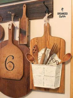Up-cycled Thrift Shop Cutting Board http://organizedclutter.net