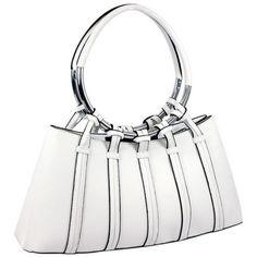 Designer Inspired White Shoulder Bag w/ Looped In Ring Straps $49.99 + Free Shipping! wantedwardrobe.net wantedwardobe.com #shop #fashion #handbags #wantedwardrobe