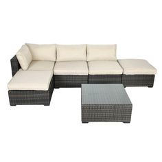 Creative Living South Hampton 6 Piece Sectional Deep Seating Group with Cushions & Reviews | Wayfair