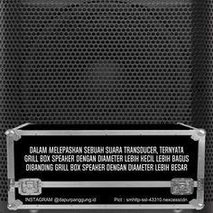 Speaker grill box
