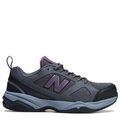 9462ca606f92 New Balance Women s 627 V2 Medium Wide Steel Toe Work Shoes (Grey Pink