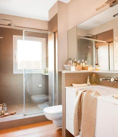 Here is a collection of the latest small bathroom designs for you, if you are bored with your old bathroom, you can find the latest ideas here. Bathroom Decor Pictures, Diy Bathroom Decor, Bathroom Fixtures, Home Decor Bedroom, Bathroom Ideas, Bathrooms, Minimalist Showers, Window In Shower, Shower Door