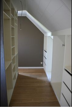 great use of attic space, closet