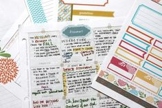 Scripture study templates and journaling help.