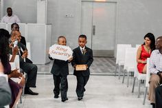 These little ring bearers preferred to be called the ring security! So cute! {Dreamlife Photos & Video}