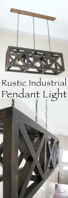 Rustic Industrial Pendant Light | 15 Easy DIY Reclaimed Wood Projects
