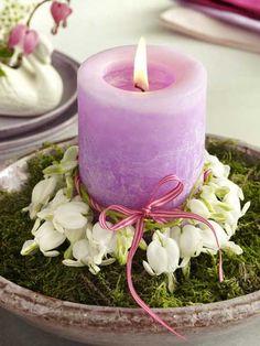 beautiful candle centerpiece