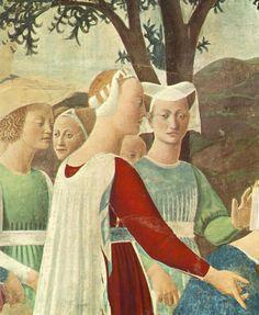 Adoration of the Holy Wood (detail) : PIERO della FRANCESCA : Art Images : Imagiva