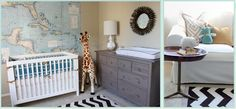 A slightly more sophisticated Safari-themed room from Nursery Notations