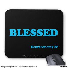 BLESSED Religious Quotes Mouse Pad