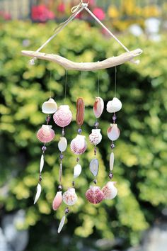Driftwood Seashell Wind Chimes, Handcrafted Wind Chimes, Wind Chimes, Beach…