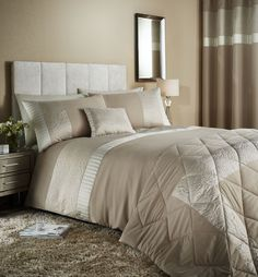 Catherine Lansfield -  Embossed Rose - Duvet Cover Set - Double
