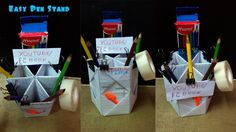 Easy Make Pen Stand || Kids Craft Making Tutorial || F2BOOK Video 91