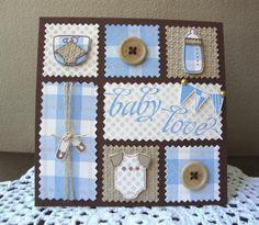 Empty Nest Crafter: May 2012 Baby Boy Cards, New Baby Cards, Baby Shower Cards, Baby Scrapbook, Scrapbook Cards, Hanukkah Cards, Hanukkah Bush, Karten Diy, Baby Shower Invitaciones