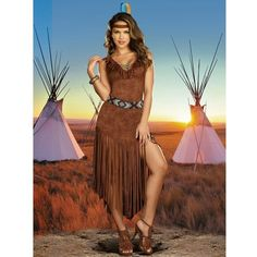 Adult Hot on the Trail Sexy Native American Indian Costume ($65) ❤ liked on Polyvore featuring costumes, halloween costumes, multicolor, sexy halloween costumes, adult halloween costumes, dreamgirl costumes, colorful halloween costumes y colorful costumes