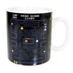 Giant Mug with Pac-Man game maze