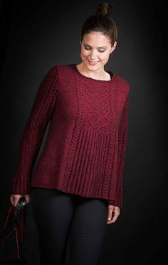 "Karihdesign Kari Hestnes, pullover version of ""Cariad"" cardigan Sweater Knitting Patterns, Baby Knitting, Crochet Baby, Knit Crochet, Cardigan Outfits, Knit Cardigan, Crochet Bikini Pattern, Beautiful Crochet, Knitwear"