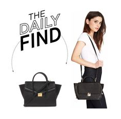 """""""The Daily Find: Forever 21 Faux Leather Trapeze Satchel"""" by polyvore-editorial ❤ liked on Polyvore featuring Forever 21, women's clothing, women, female, woman, misses, juniors and DailyFind"""