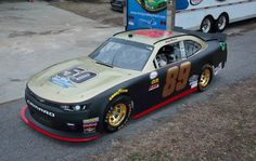 Morgan Shepherd's 50 Years in NASCAR Paint Scheme. He is currently 75, and the oldest lap leader at the age of 74. He is also the oldest winner at 54 Years 4 months and 27 days, and the oldest to start a Monster Energy series race  race at 72.