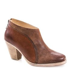 LUCIA DARK TAN LEATHER ANKLE BOOT
