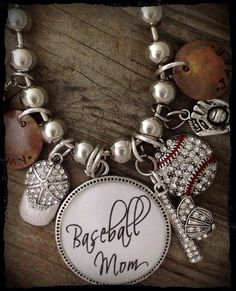 Baseball Mom Necklace Baseball Mom Jewelry by mygoodie2shoes