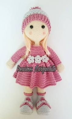 Make Your Art Easier: Amigurumi - Dolls Crochet Dolls Free Patterns, Crochet Doll Pattern, Amigurumi Patterns, Doll Patterns, Love Crochet, Crochet Baby, Knit Crochet, Crochet Animals, Crochet Toys