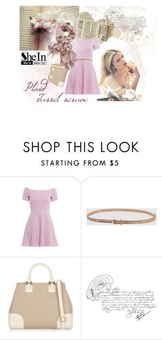 """The sweetest dream"" by mssantos ❤ liked on Polyvore featuring AX Paris, OCT, Tory Burch, mark., Pink, plaid, scarf and shein"
