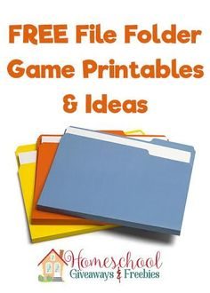 FREE File Folder Game Printables and Ideas