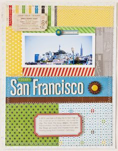 love the patchwork of bright patterned papers (crate blog)