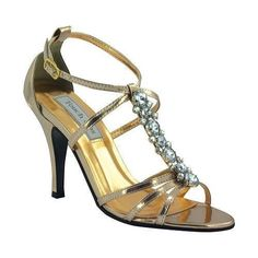 Women's Touch Ups Vanessa Rose Gold Metallic by Touch Ups #promheelsgold