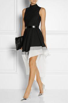need this dress asap. Theory|Dexas wool and silk-blend mini dress|NET-A-PORTER.COM