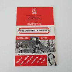 Vintage 1973 Liverpool Versus Southampton Football Soccer Program With Football League Pull Out Magazine by VintageBlackCatz on Etsy